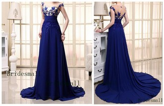dress royal blue prom gown royal blue prom dress royal blue evening dress lace prom dress gorgeous blue dress elegant long dresses wedding dress see through dress sexy party dresses sequin prom dress prom dress crystal open back