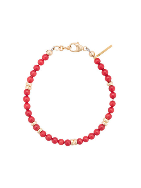 beaded bracelet women beaded gold coral red jewels