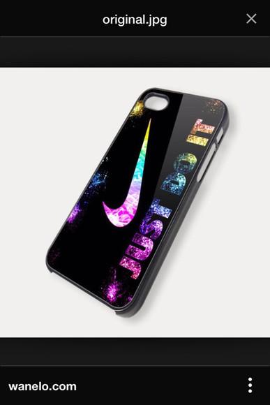 nike phone case slogan multicoloured phonecover iphone 4 case justdoit