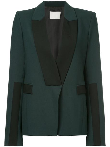 Dion Lee jacket women spandex wool green