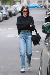 shoes,sneakers,sweater,jeans,denim,celebrity,streetstyle,casual,sofia richie