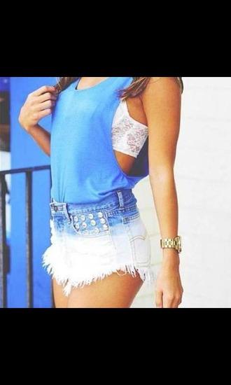 top lace bra tank top shorts