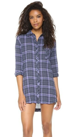 shirt plaid sleep top