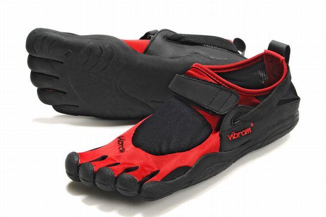 5 fingers kso black and red men running sneakers