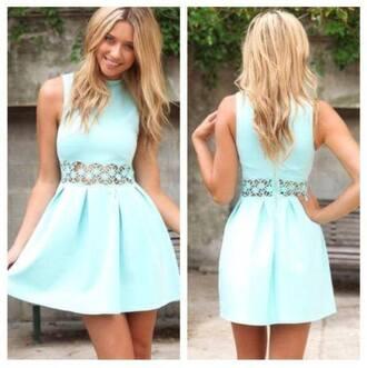 dress mint beautifuldress party dress shortdress