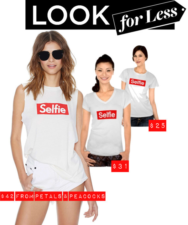 t-shirt selfie top