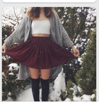 skirt dark red skirt amazing i neeed it ????