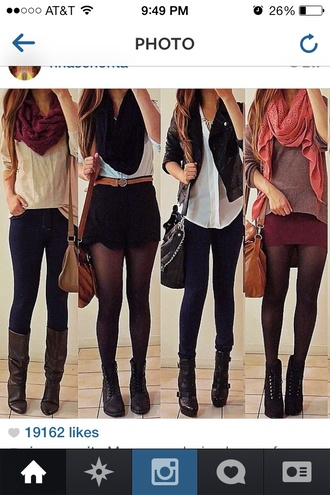 shorts dress sweater shoes skirt jeans shirt bag belt coat jacket perfecto scarf blouse cardigan fall outfits fall sweater fall boots fall trend fall 2014 fall scarves fall style boots button up light top leggings pullover