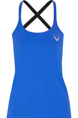 cross back blue cobalt blue top