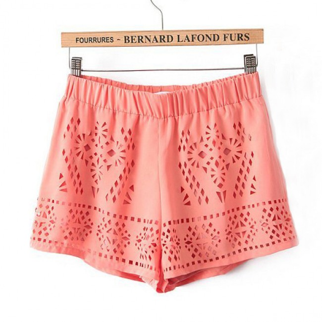 Hollow out shorts
