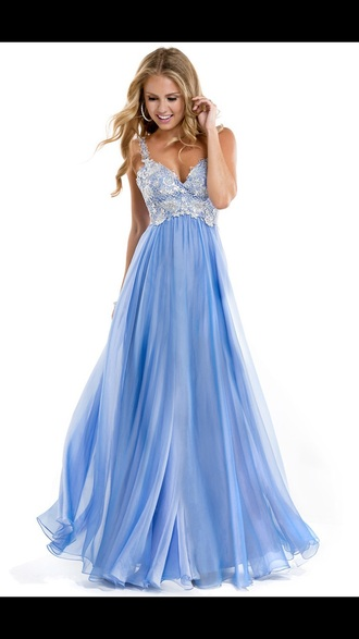dress prom dress homecoming dress blue dress pretty