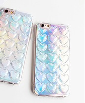 phone cover,tumblr,instagram,iphone cover,iphone case,heart,holographic