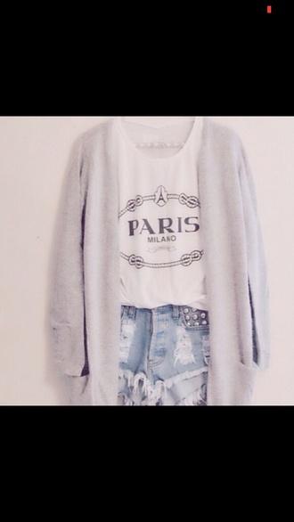 shirt paris milan  statement necklace