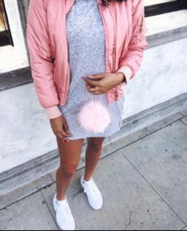 be4dcf007 Alexus Pink Bomber Jacket - Coats & Jackets - PrettylittleThing ...