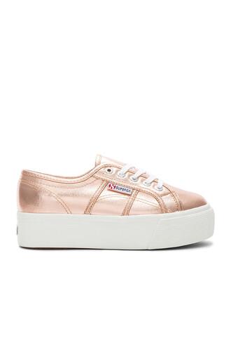 metallic copper shoes