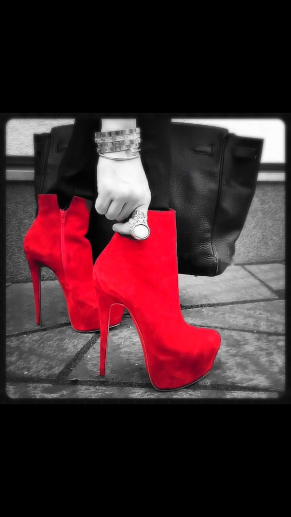 shoes red high heels