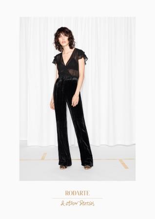 & Other Stories | Rodarte Crushed Velvet Trousers | Black