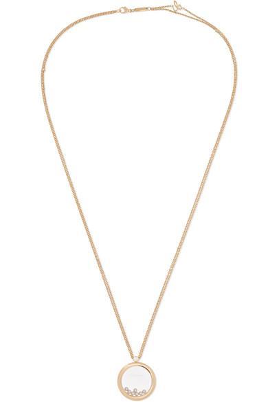 Chopard - Net Sustain Happy Diamonds 18-karat Gold Diamond Necklace - Net Sustain Happy Diamonds 18-karat Gold Diamond Necklace