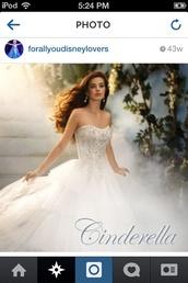 dress,alfred angelo,ball gown wedding dresses,disney princess,cinderella