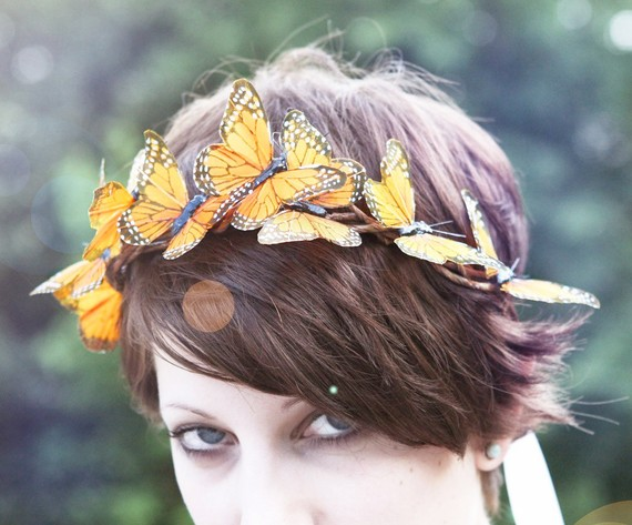 Monarch  wire butterfly crown by whichgoose on etsy