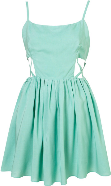 Topshop Melanie Dress By Goldie in Green (mint) | Lyst