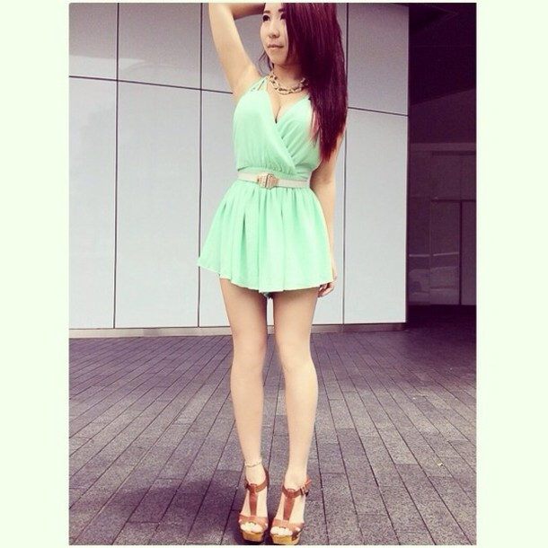 784212b39a dress mint mint dress mint pastel green pastel romper romper jumpsuit  jumpsuit lucy in the sky