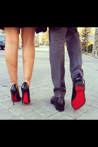 shoes black heels black high waisted pants black high heels black  high heels red dress black dress red high heels red red underwear couple sweaters high heels heels style fashion black bikini