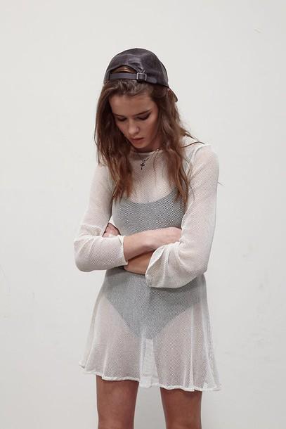 Shirt Dress Mesh Cover up