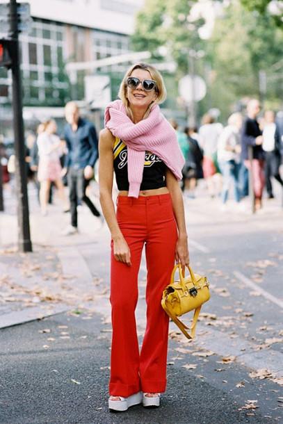 vanessa jackman blogger top sweater tank top underwear pants jeans shoes