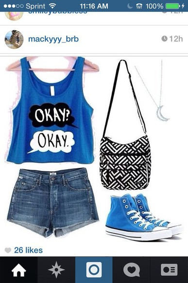 tfios tfios shirt blue shirt okay, john green, the fault in our stars, tfios