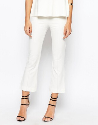 pants kick flare pants white pants