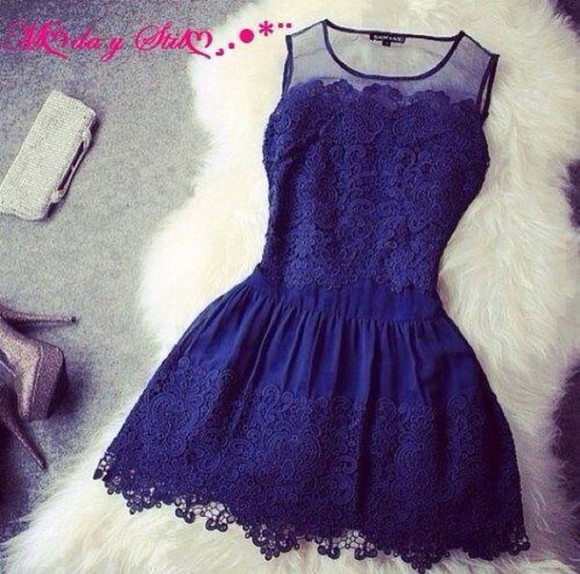 dress little dress mini dress blue dress