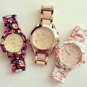 jewels watch gold flower watch floral