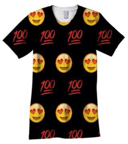blouse emoji print