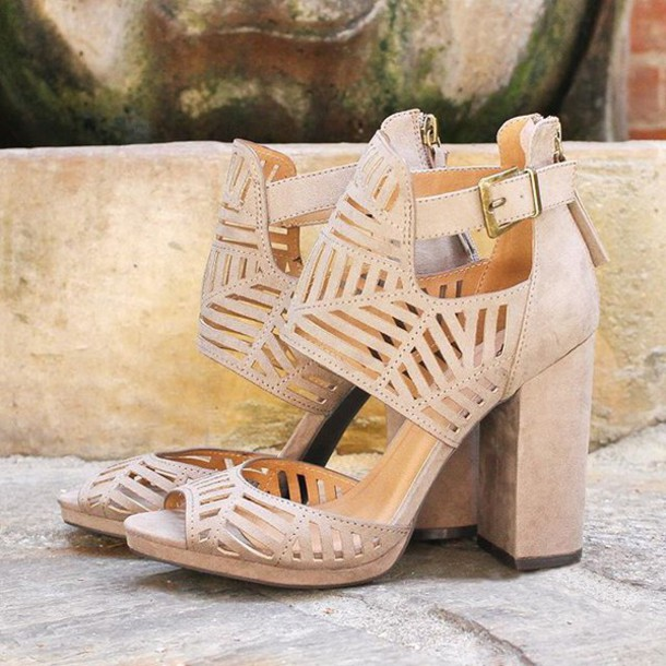 a791504dbf3 shoes heels fashion style trendy block heels cut out shoes geometric new  shoes chunky heels fashionista