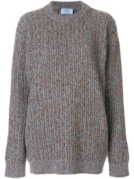 sweater oversized metallic women wool knit grey