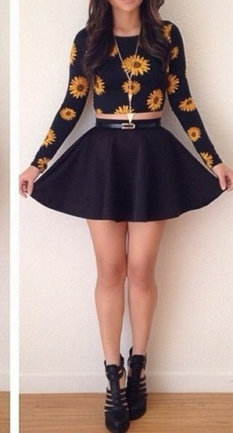 skirt black skirt skater skirt jupe patineuse black skater skirt jupe patineuse noir