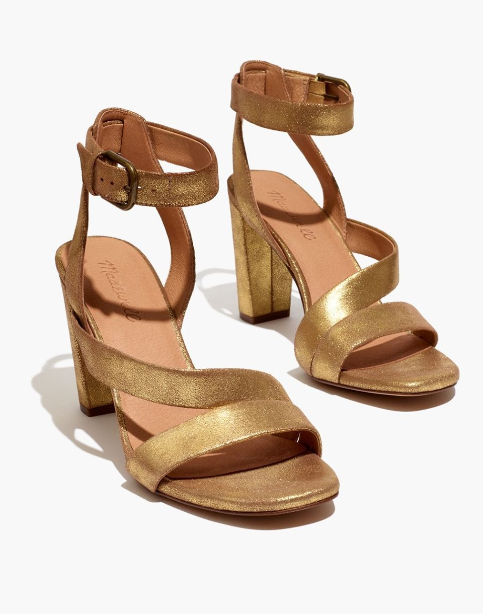 The Liv Sandal in Metallic Leather