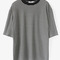 Women's casual basic stripped t-shirt
