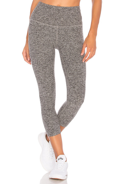 Beyond Yoga high waisted high white black pants