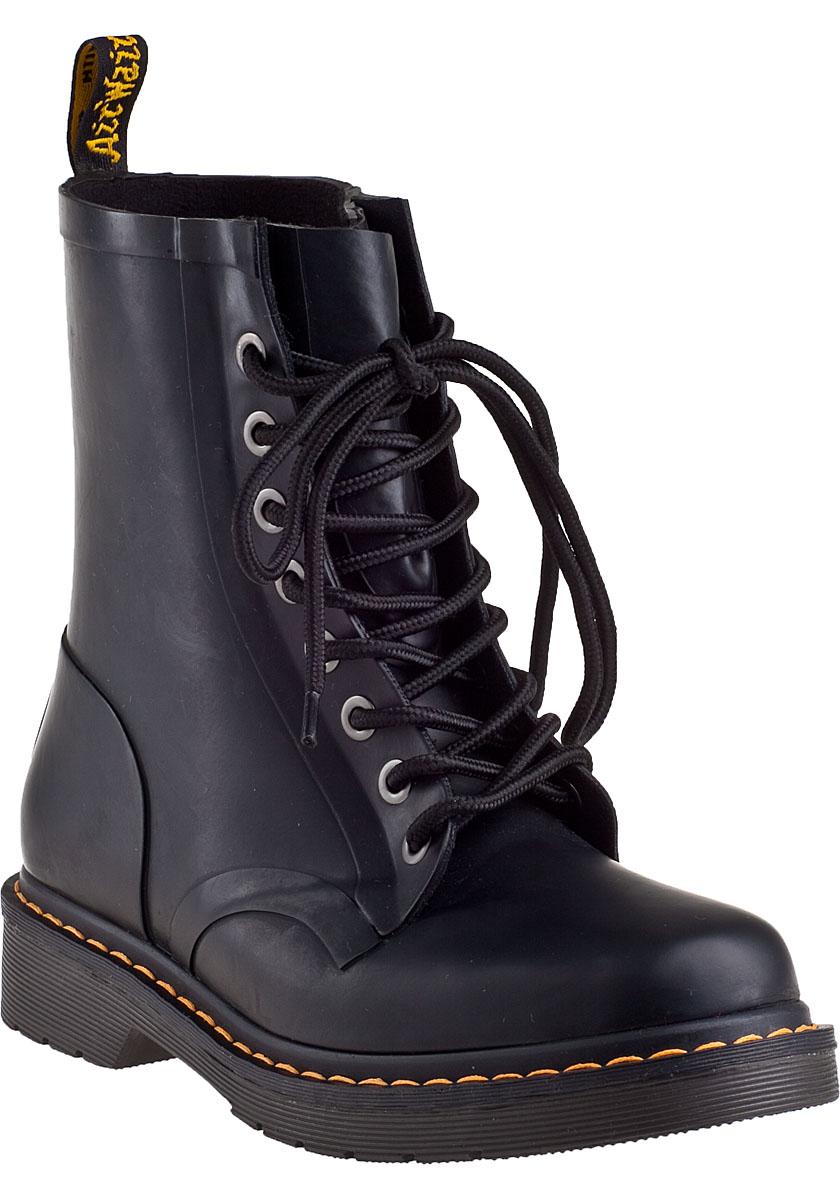 Martens Drench Rain Boot Black Rubber - Jildor Shoes, Since 1949