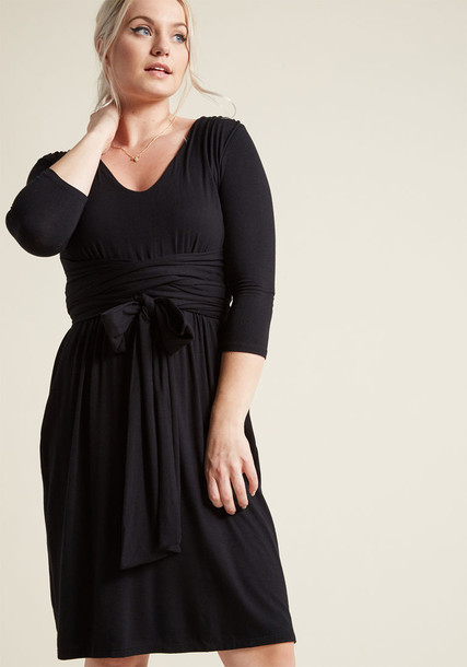 Modcloth dress knit black