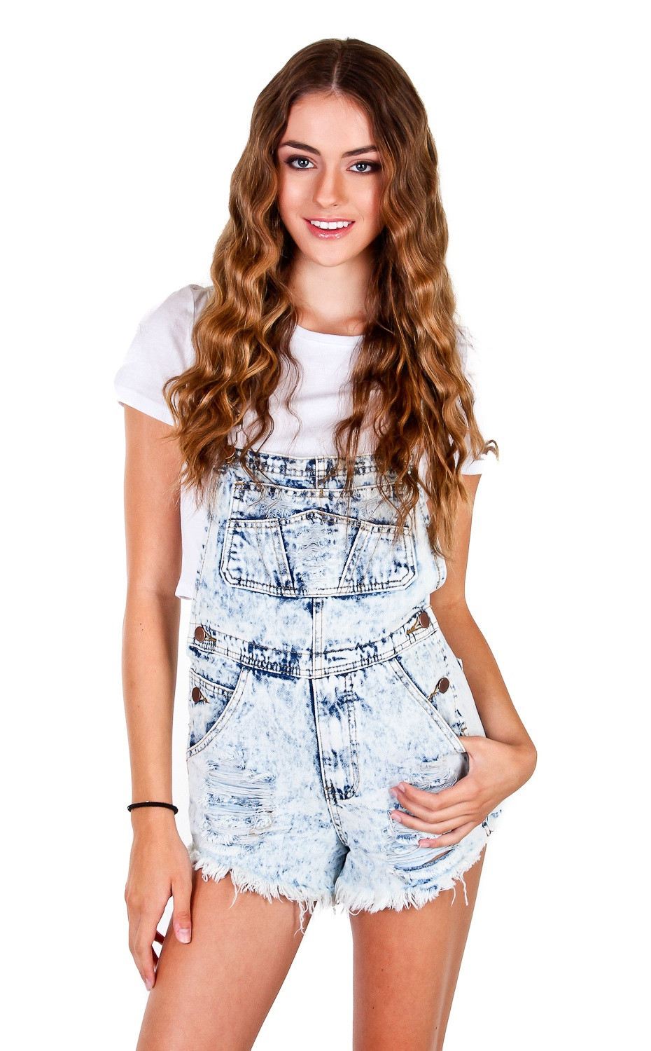Distressed denim overall – nyct