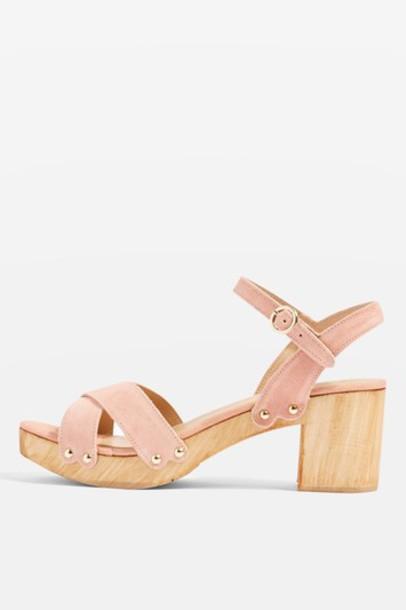 Topshop sandals nude shoes