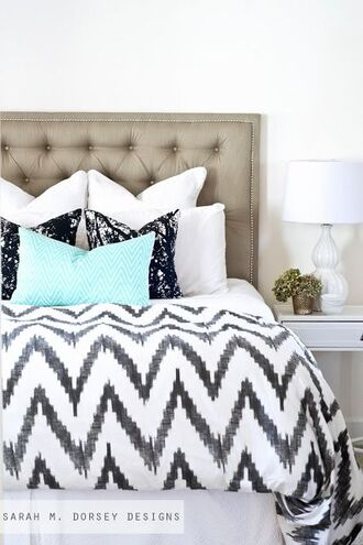 phone cover bedding bedroom home decor room type blue aqua black white black and white sleeping sleep all day house decoration beautiful chevron pajamas bedtimeeeeeee home accessory college