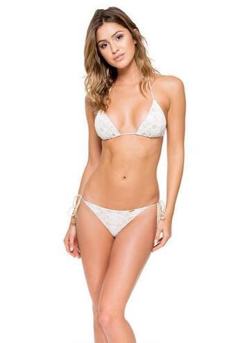 top lace luli fama white triangle bikini top
