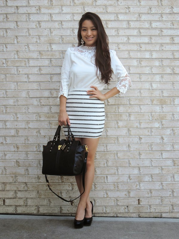 sensible stylista blogger blouse skirt bag shoes jewels