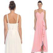 dress,beach wedding dress,chiffon dress,blush,bridesmaid,formal wear,womens clothing,trendy dress,discountdressshop