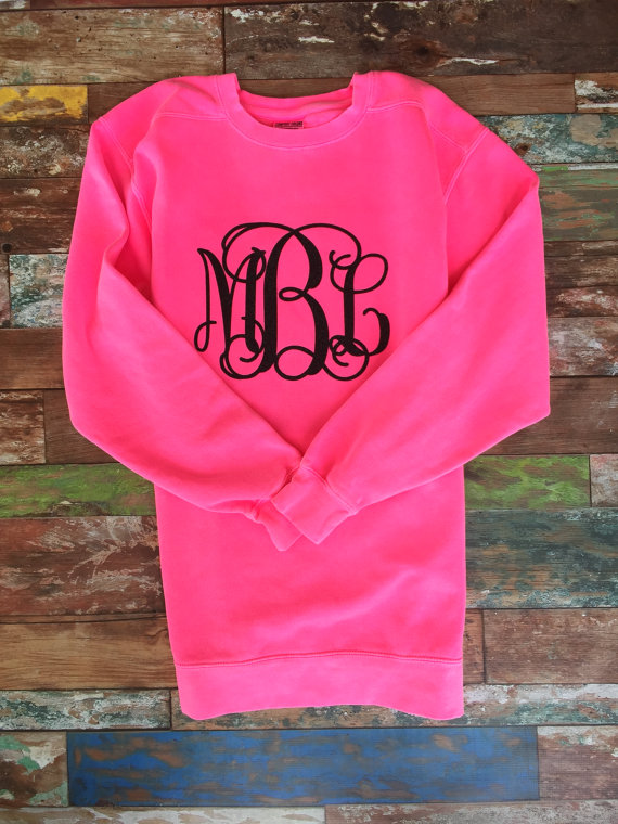 a3f4dc787d82d Monogrammed Sweatshirt, Monogram Sweatshirt, Monogram Pullover, Monogram  sweater, Girls, Ladies, Monogrammed Christmas gifts,