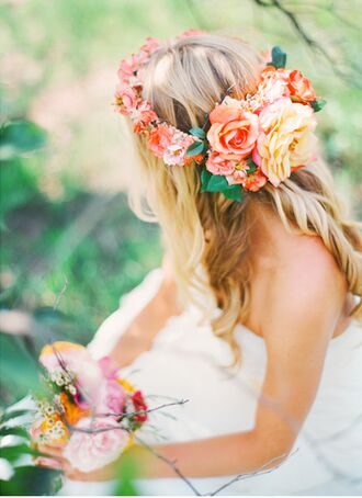 hair accessory flower crown hipster wedding wedding hairstyles